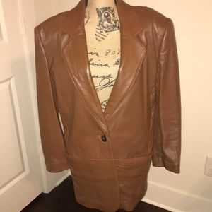 Brown mid length blazer